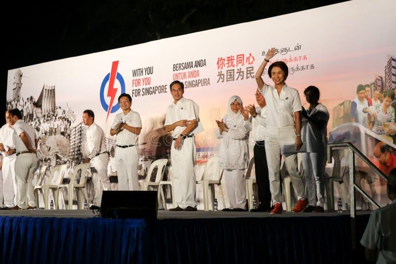 Singapur wybór powszechny papki 2015 wiec zdjęcie royalty free