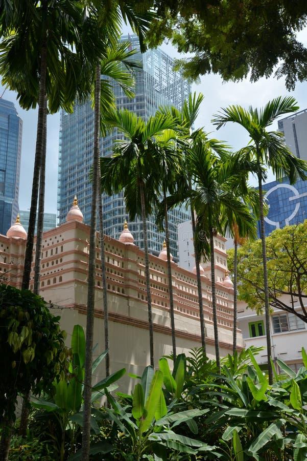 Singapura, cidade velha abriga fachadas e a arquitetura moderna fotos de stock royalty free