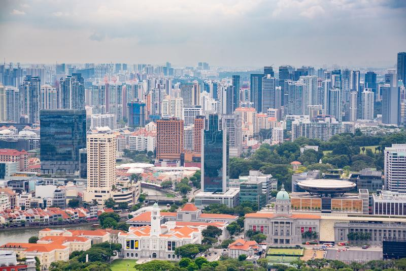 Singapura, Singapura - 22 de abril de 2019: Apartamento e prédios de escritórios fotos de stock royalty free