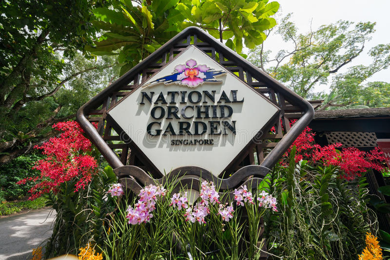 Singapura - 2 de agosto de 2014: Entrada ao nacional fotos de stock royalty free
