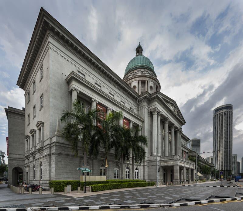 Singapura, Singapura - 25 de dezembro de 2017: National Gallery corte suprema anterior do ` s de Singapura, Singapura imagens de stock