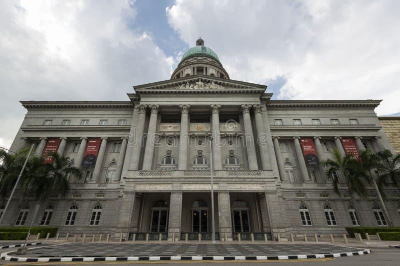Singapura, Singapura - 25 de dezembro de 2017: National Gallery corte suprema anterior do ` s de Singapura, Singapura imagem de stock