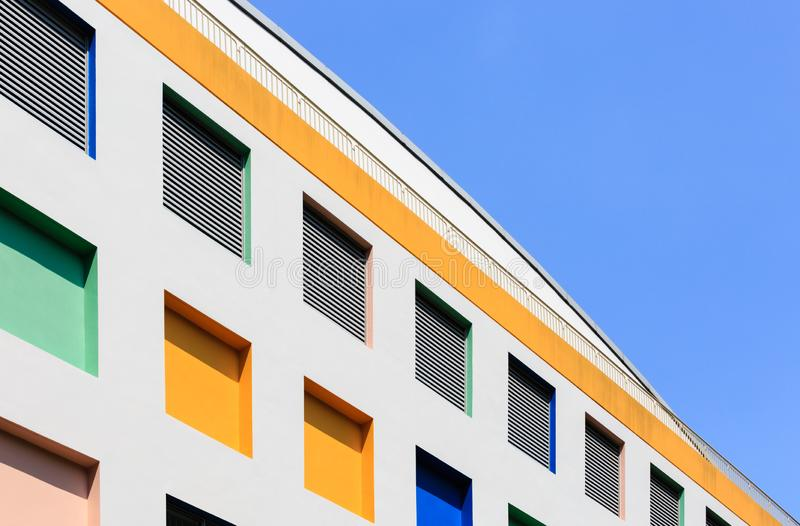 Singapura 5 DE JANEIRO DE 2019: Fachada norte da construção de escola primária da vista de Singapura foto de stock royalty free