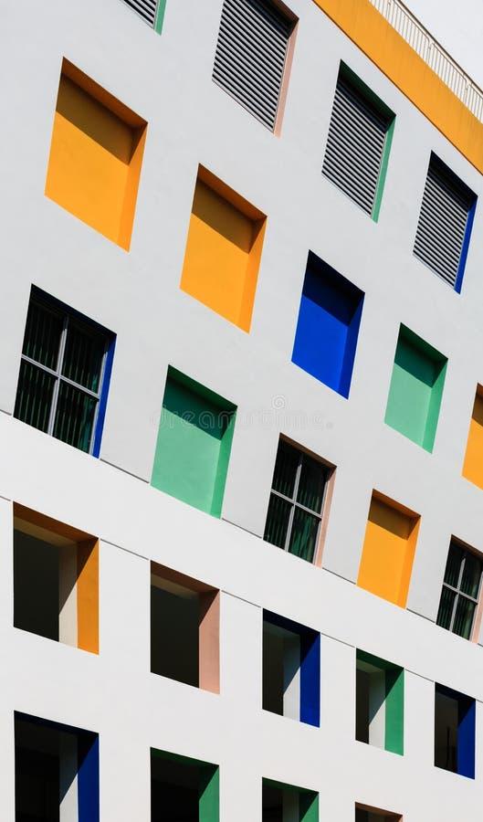 Singapura 5 DE JANEIRO DE 2019: Fachada norte da construção de escola primária da vista de Singapura imagem de stock