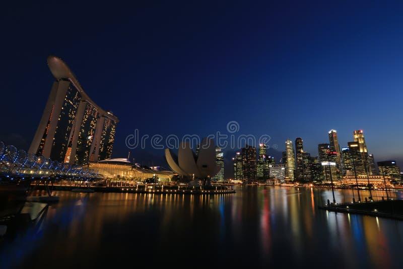 Singapura Marina Bay Signature Skyline imagens de stock