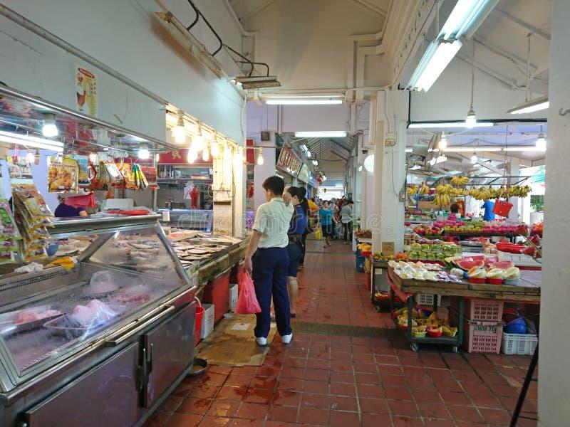 Singapura: Mercado molhado fotos de stock royalty free