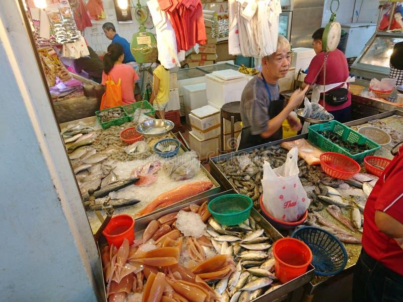 Singapura: Mercado molhado foto de stock
