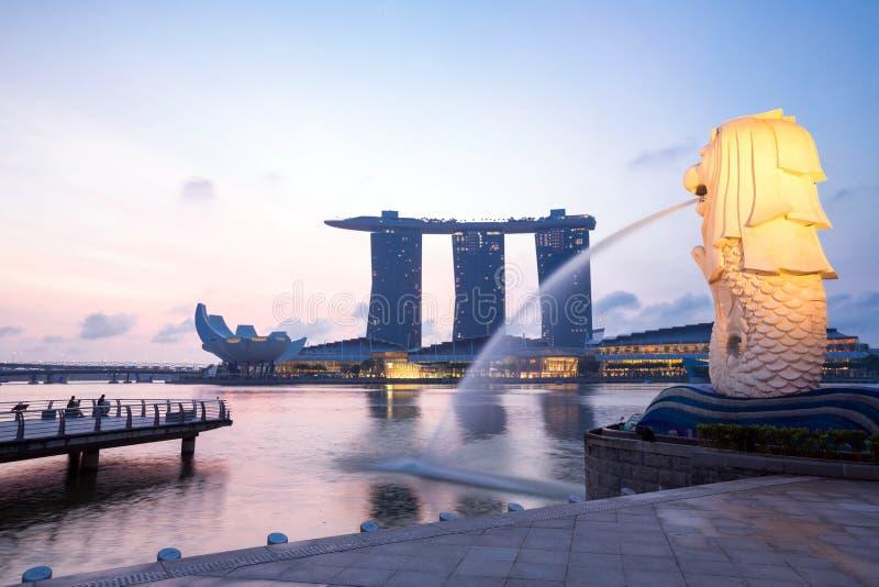 Singapura Merlion imagem de stock