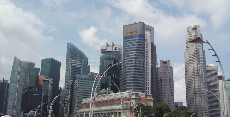 Singapura Skyline royalty free stock photos