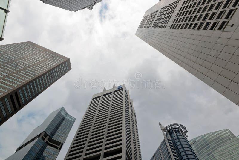 Singapura Skyscrappers imagens de stock royalty free