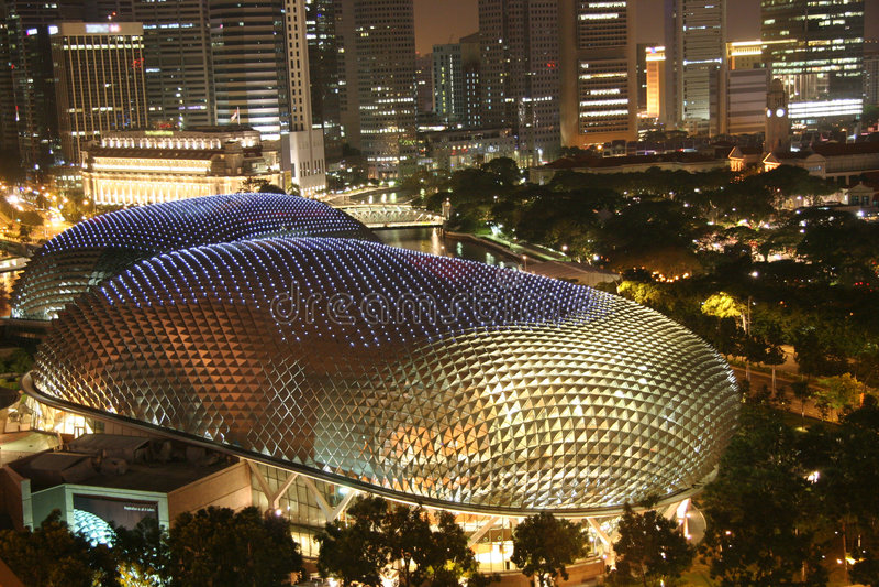 Singapuresplanade-Theater lizenzfreies stockfoto