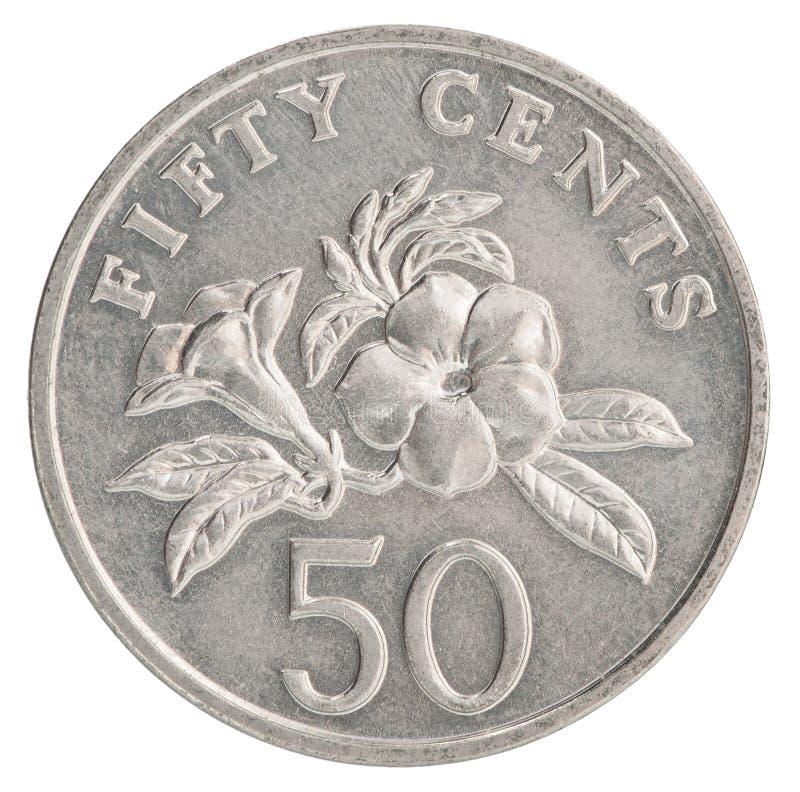 Singapurska cent moneta zdjęcia stock