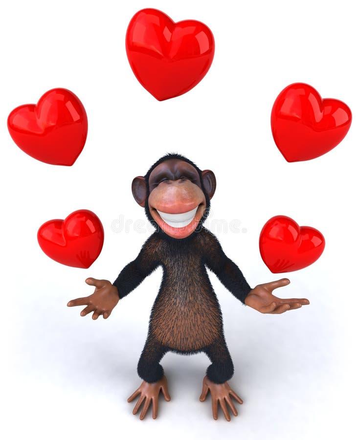 Download Singe illustration stock. Illustration du chimpanzé, animal - 8658944