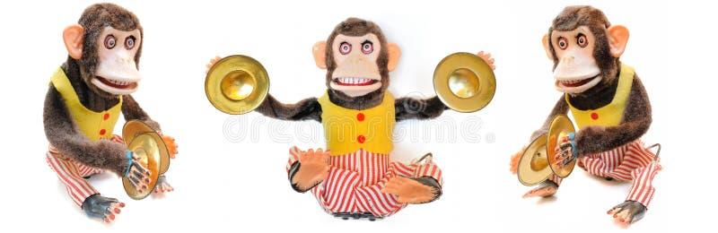 Singe avec des cymbales images libres de droits