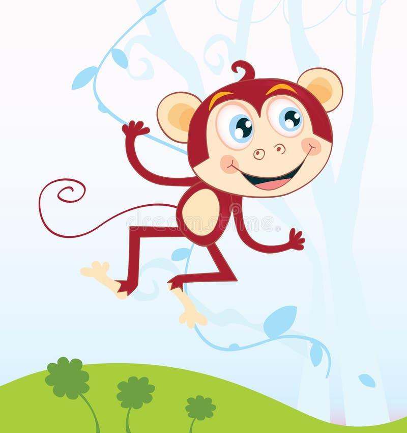 singe de jungle illustration de vecteur