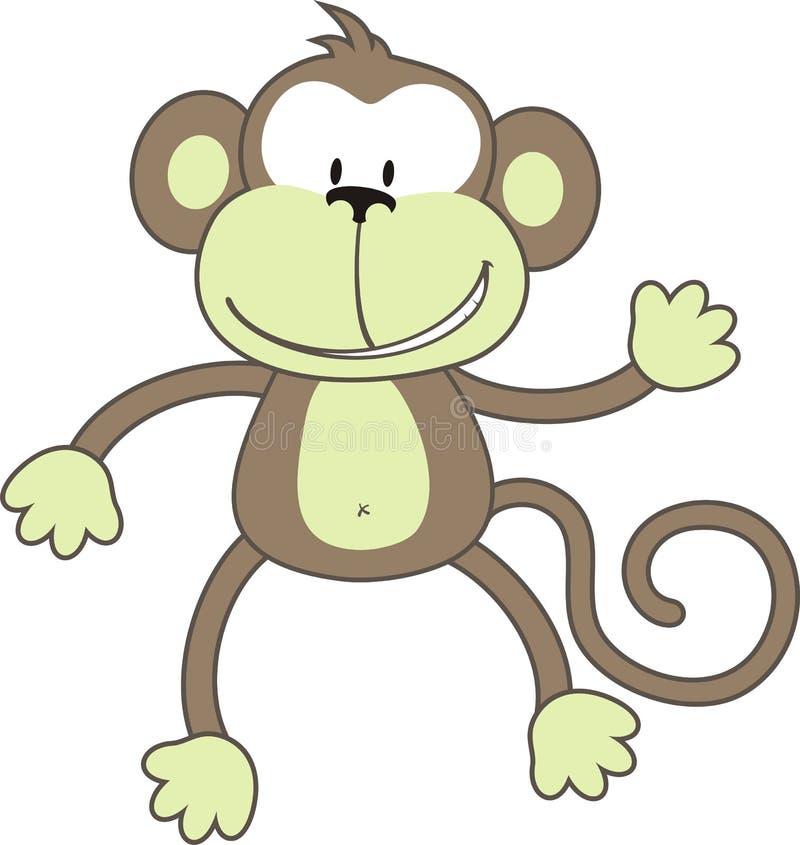 singe de salutation illustration de vecteur