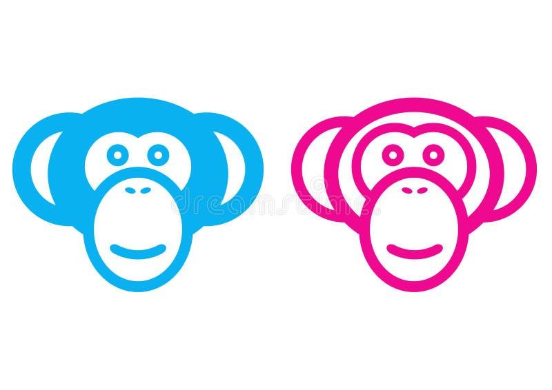 Singe mâle et femelle illustration libre de droits