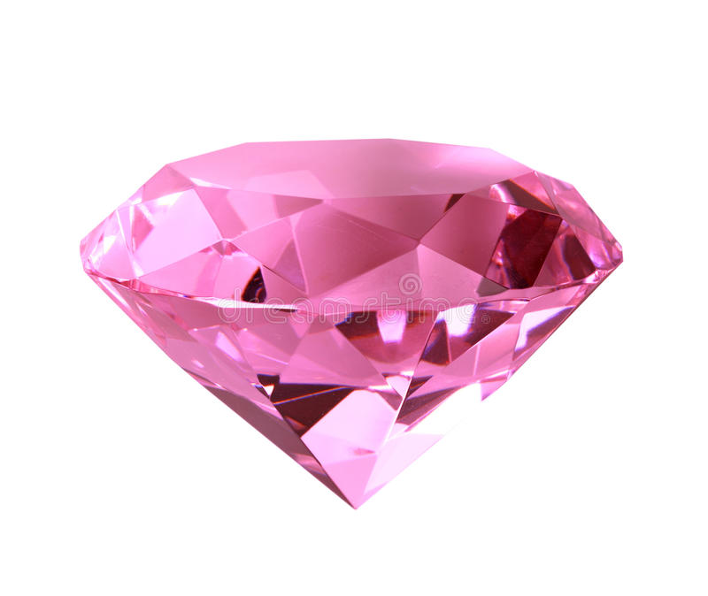 Singe pink crystal diamond royalty free stock images