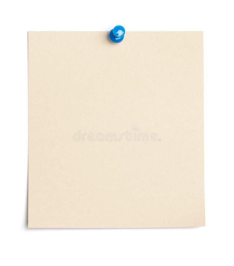Tomt lappa av pappers- med tumhalsen arkivfoto
