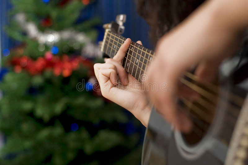 Singendes Weihnachten stockbilder