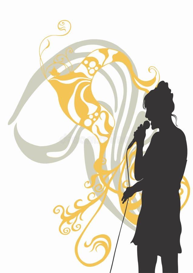 Singer stock illustration