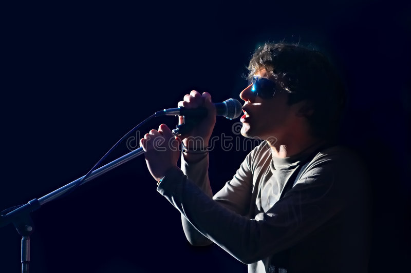 Download Singer stock image. Image of audio, club, background, person - 5276443