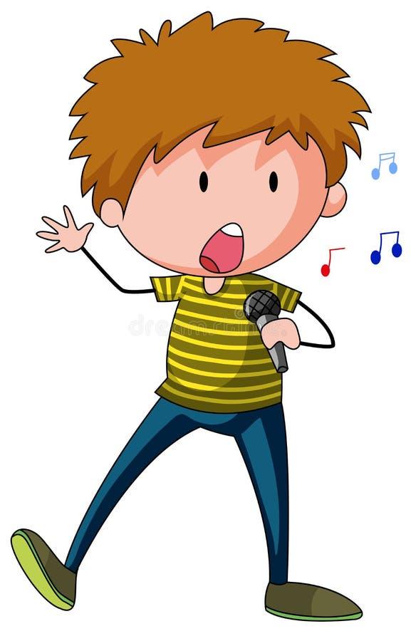 singer royalty-vrije illustratie