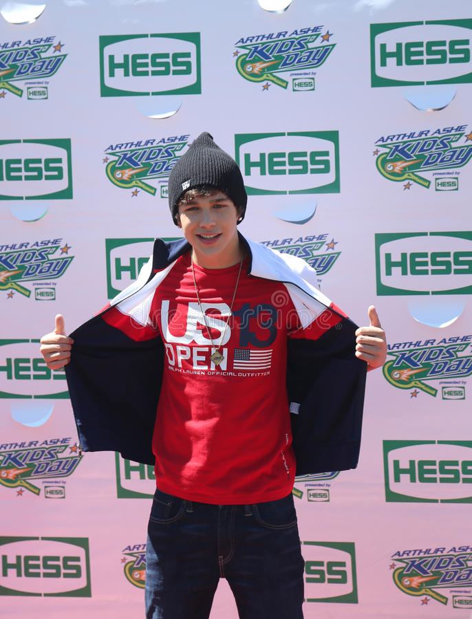 Download Singer Austin Mahone Attends Arthur Ashe Kids Day 2013 At Billie Jean King National Tennis Center Editorial Photography - Image: 35831797