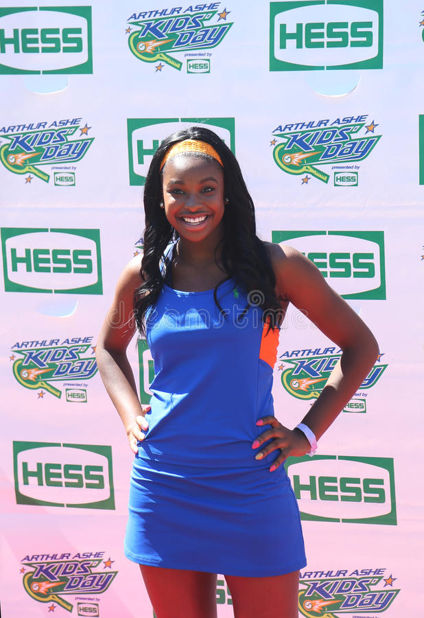 Singer Coco Jones attends Arthur Ashe Kids Day 2013 at Billie Jean King National Tennis Center royalty free stock photo