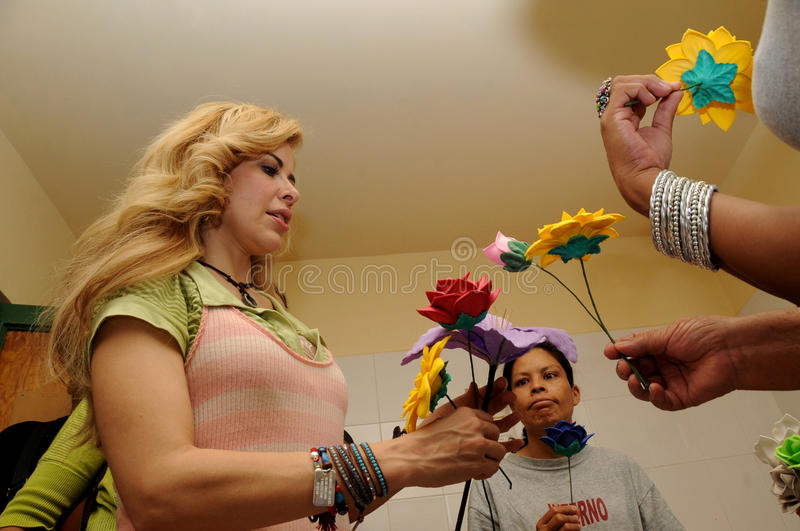 Download Singer Gloria Trevi, Receives Flowers From Inmates Editorial Stock Photo - Image: 25019843