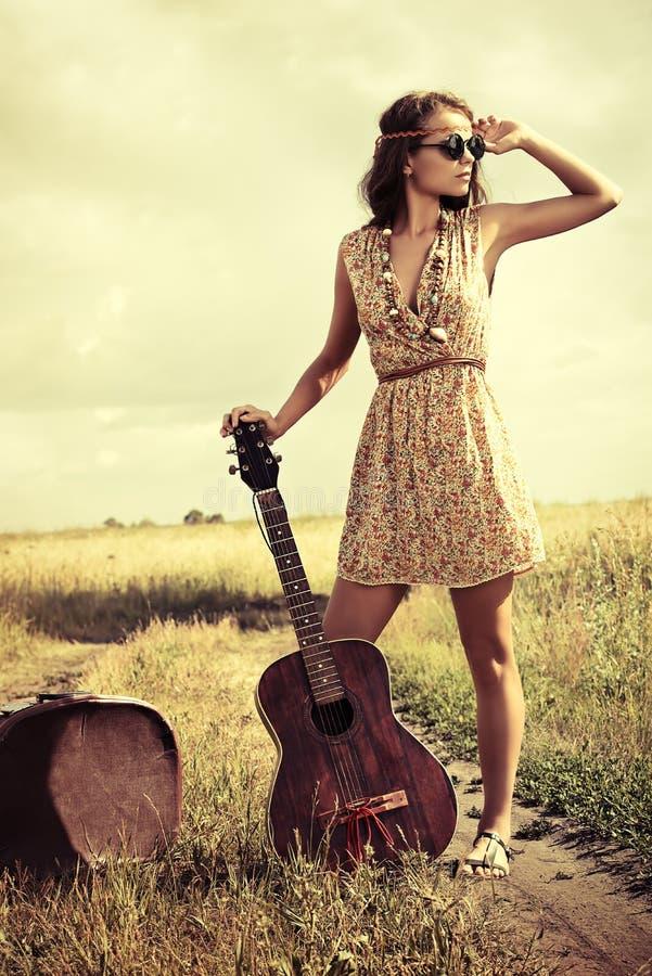 Singer hippy stock photos