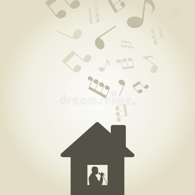 Download Singer in the house stock vector. Image of note, card - 28802686