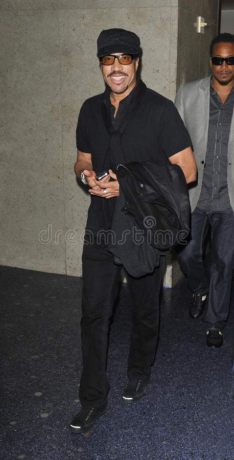 Singer Lionel Richie is seen at LAX