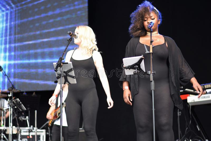 Howard Jones in performance at the Retro Festival, Bristol, UK. June 2017. stock photos