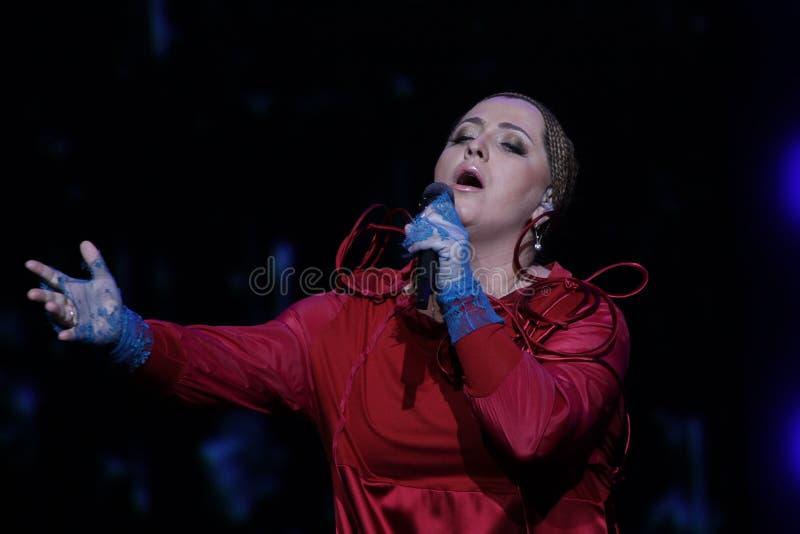 Singer Nino Katamadze royalty free stock photo