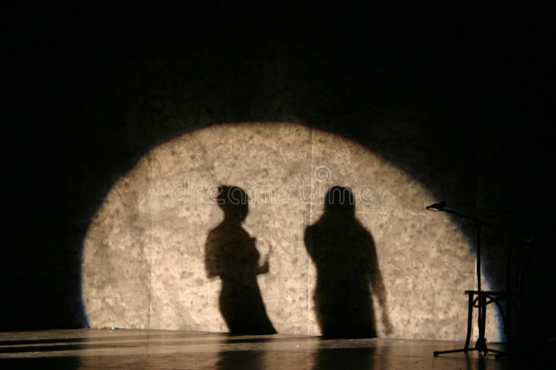 Download Singer Shadows stock image. Image of audience, shadows - 1839129