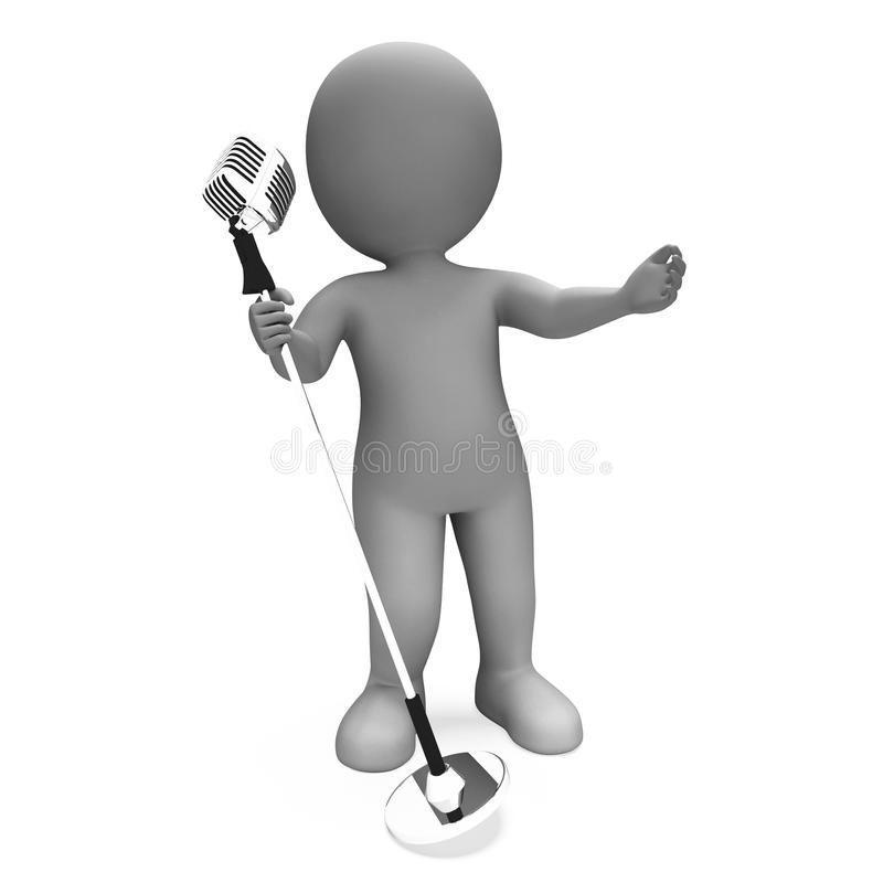Download Singer Shows Performance Music Or Karaoke Microphone Concert Royalty Free Stock Photos - Image: 34211358