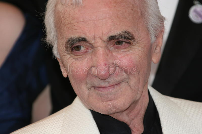 Singer/songwriter Charles Aznavour royalty free stock photography