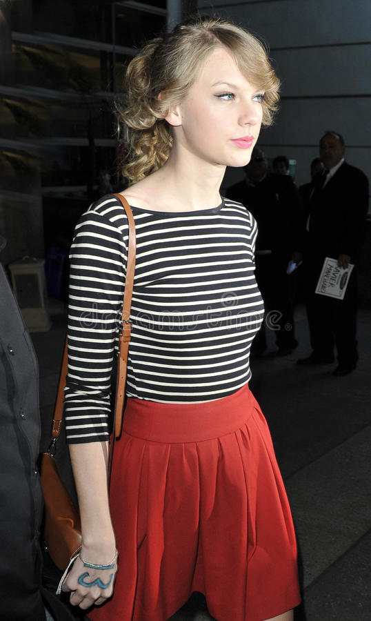 Download Singer Taylor Swift Is Seen At LAX Airport Editorial Stock Photo - Image: 20664633