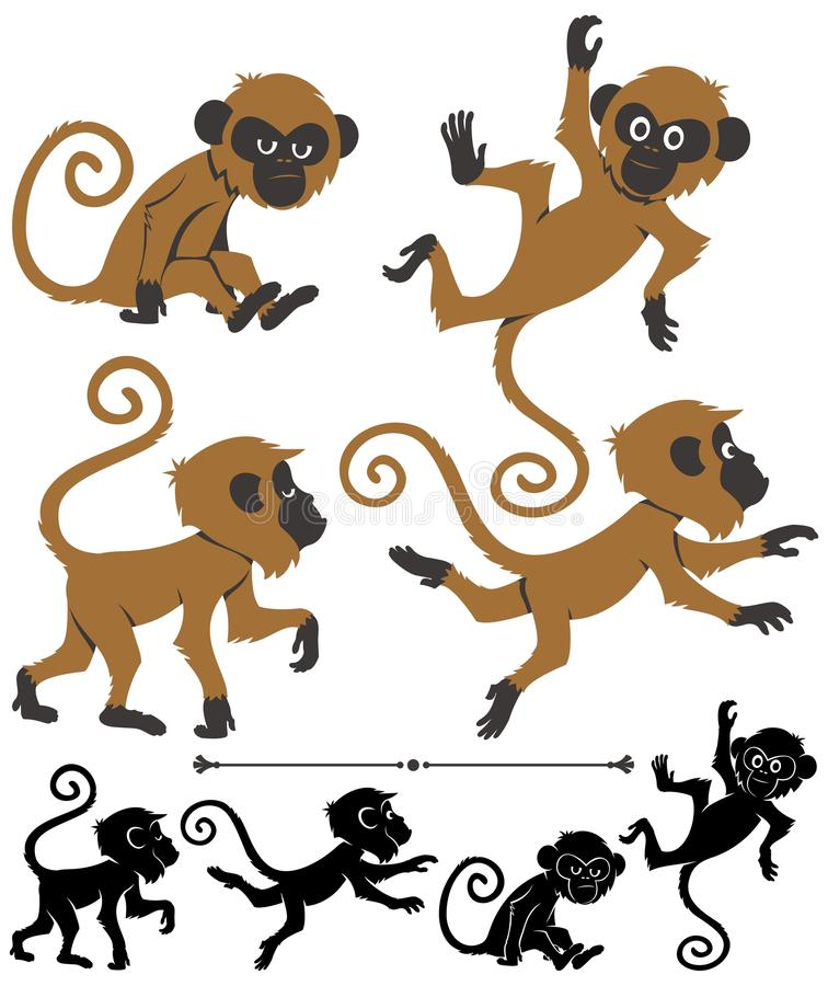 Singes illustration de vecteur