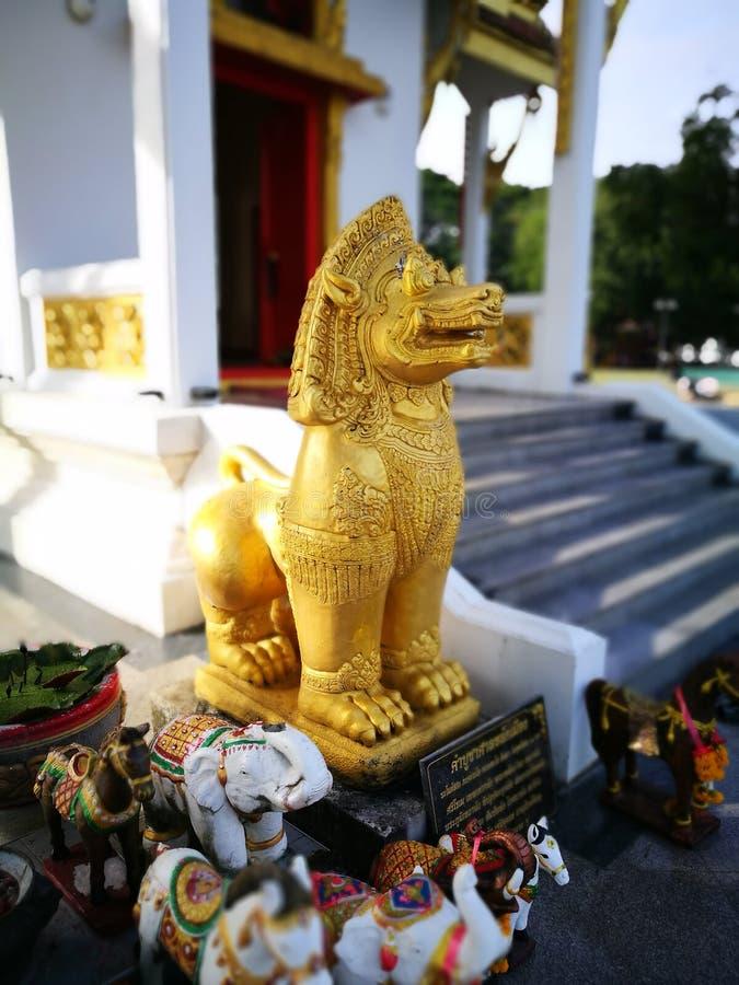 Singha是黄道带的标志在泰国 免版税库存图片