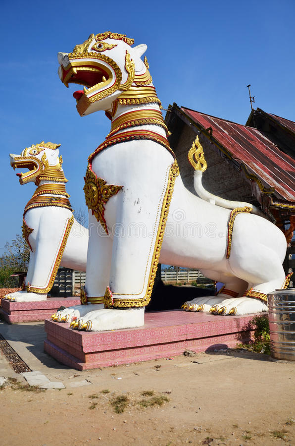 Singha at Chedi Buddhakhaya location at near Wat W stock image
