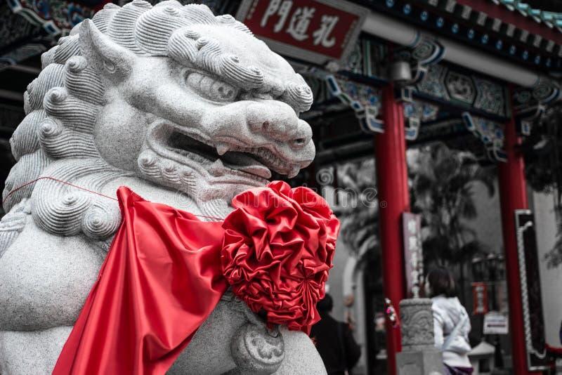 Singha kamienia statuy chińczyk obraz stock