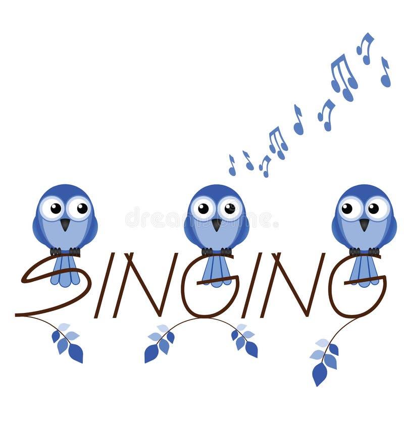Download Singing stock vector. Image of harmony, text, bird, concert - 25100903