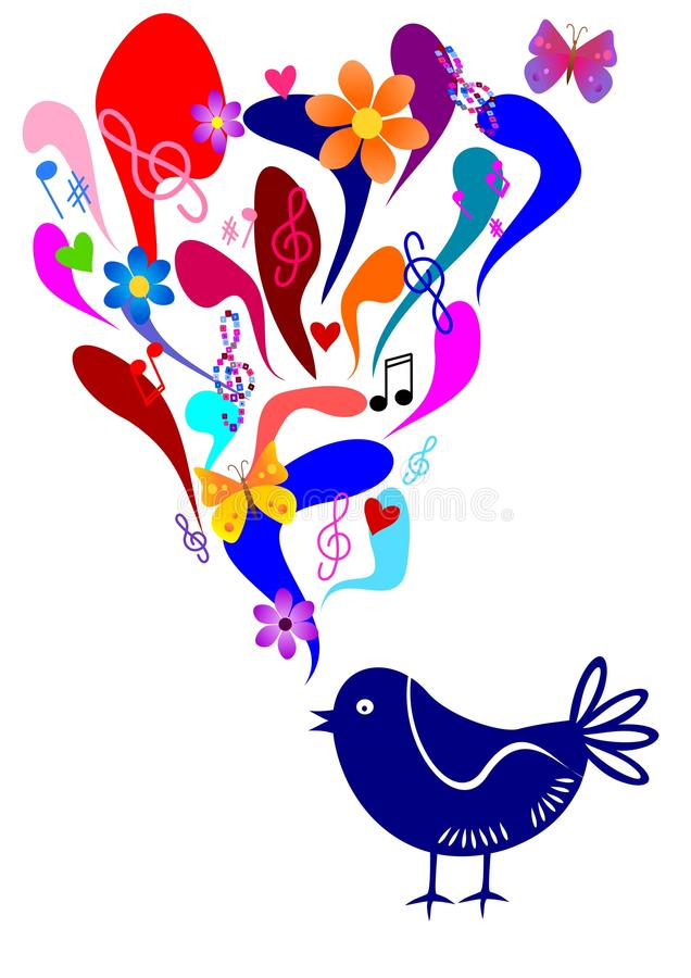 Download Singing bird stock vector. Illustration of song, butterfly - 22183074