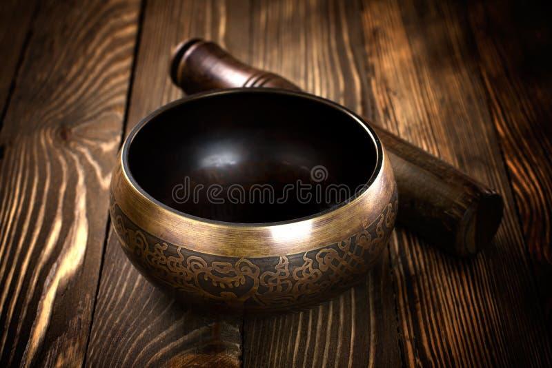 Singing bowl stock images