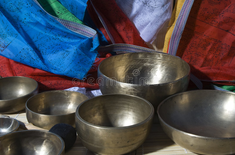Singing bowl stock photos