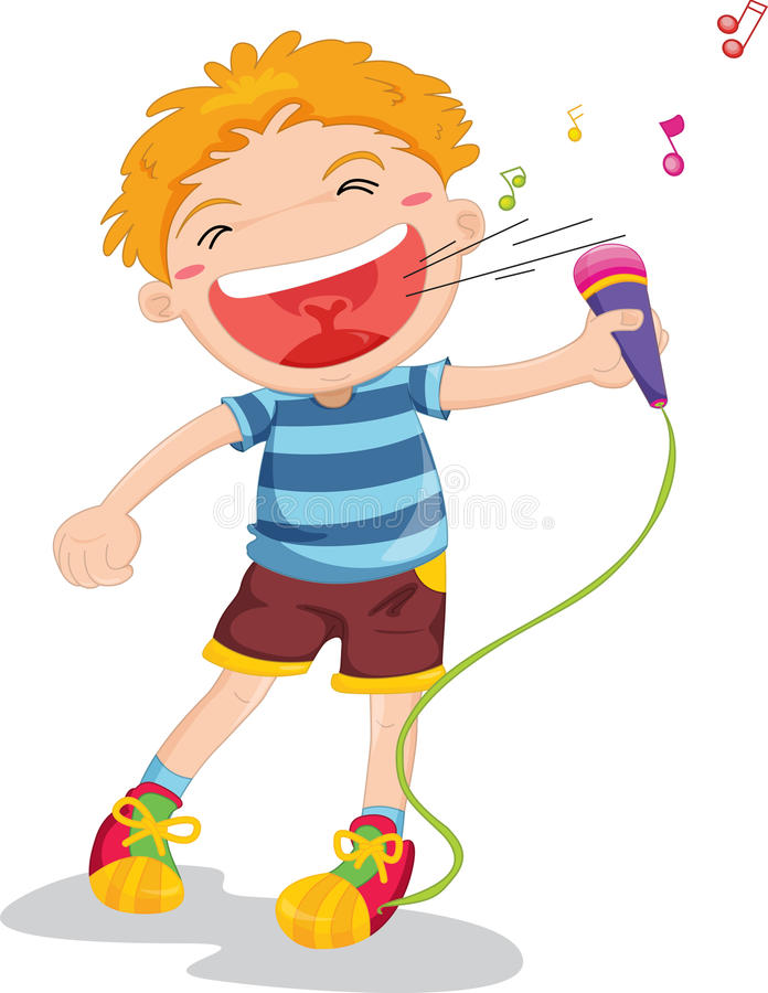 Download Singing boy stock vector. Illustration of male, graphic - 9815087