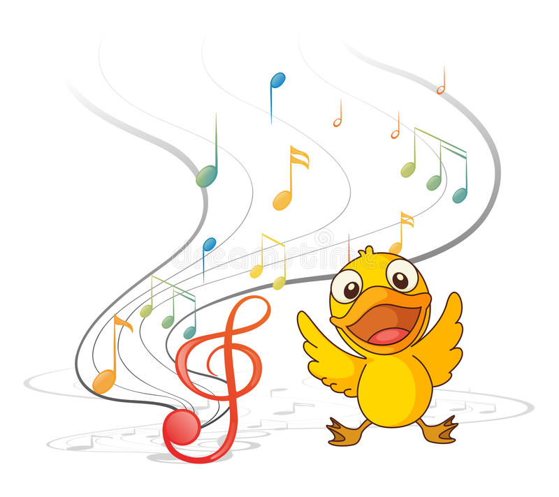 Download The singing chick stock vector. Image of chick, drawing - 30350260