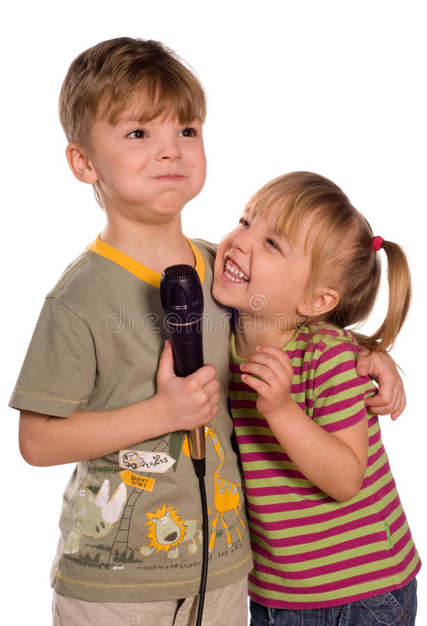 Download Singing child stock image. Image of adolescence, microphone - 13380901